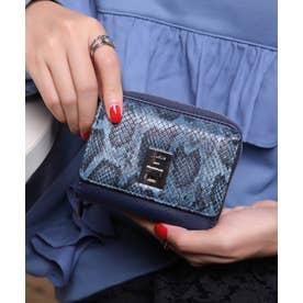 回転金具 三つ折りミドル財布 (NVY/PYT)