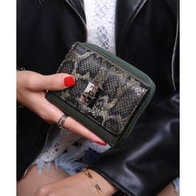 回転金具 三つ折りミドル財布 (DGRN/PYT)