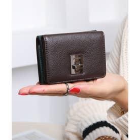 回転金具 三つ折りミニ財布 (DGRN/DBRN)