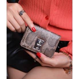 回転金具 三つ折りミニ財布 (DBRN/PYT)
