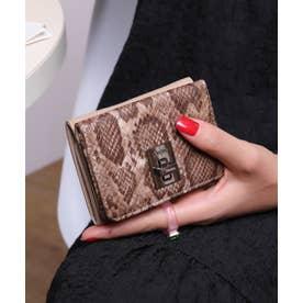 回転金具 三つ折りミニ財布 (BEG/PYT)