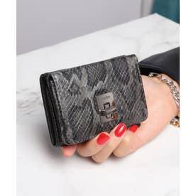 回転金具 三つ折りミニ財布 (GRY/PYT)