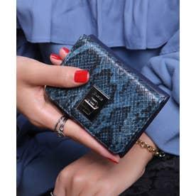 回転金具 三つ折りミニ財布 (NVY/PYT)