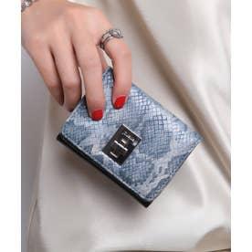 回転金具 三つ折りミニ財布 (BLU/PYT)