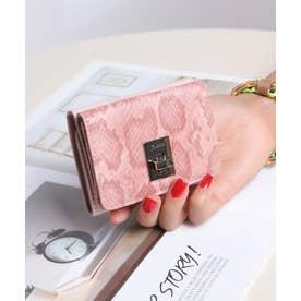 回転金具 三つ折りミニ財布 (PNK/PYT)