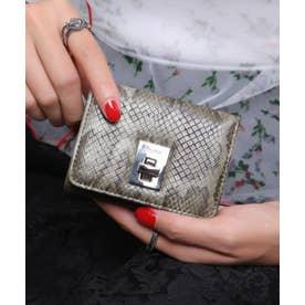 回転金具 三つ折りミニ財布 (KHA/PYT)