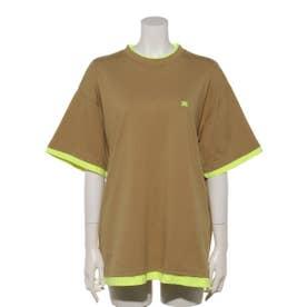 レイヤードトライアングルTシャツ (BGE)