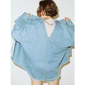 バックチェーンルーズシャツ(アイスブルー)