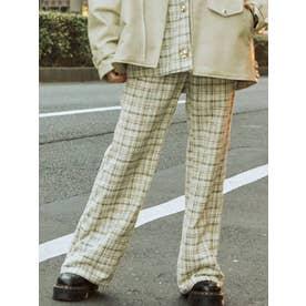 【セットアップ対応】パールボタンタックパンツ(ミックス)