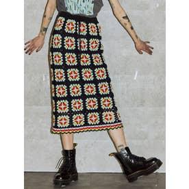 【セットアップ対応】カラークロシェスカート(ブラック)