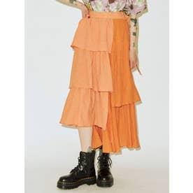 【WEB限定】ティアードフリルスカート(オレンジ)