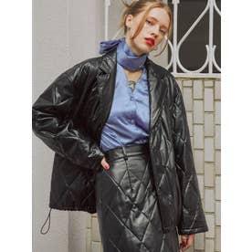 【セットアップ対応】キルトジャケット(ブラック)