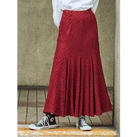 マーメイドラインスカート(ボルドー)