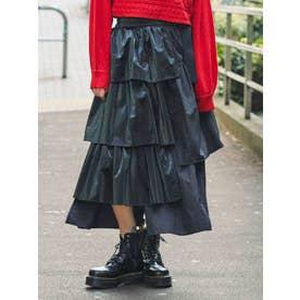 フリルティアードラップスカート【WEB限定】(ブラック)