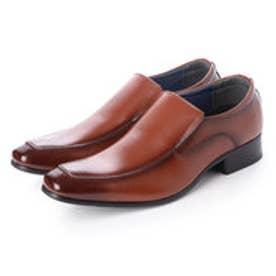 日本製 本革 メンズ ビジネスシューズ 紳士靴 (ブラウン)