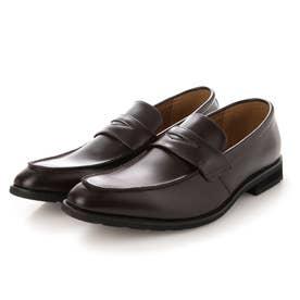 本革 メンズ ビジネスシューズ Uチップ ローファー 紳士靴  防滑 (ブラウン)