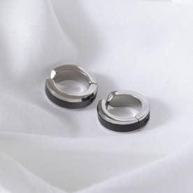 イヤーカフ ステンレス  両耳 (ブラック)