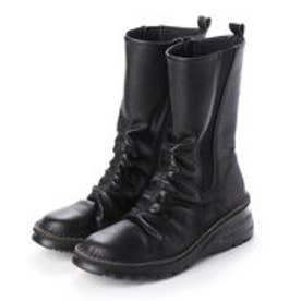 サイドゴアミドルブーツ (ブラック)