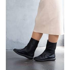 シンプルミドルブーツ (ブラック)