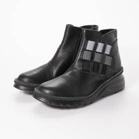 低反発ソール軽量ショートブーツ (黒)