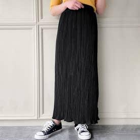 プリーツタイトロングスカート (ブラック)