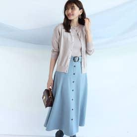 ベルト付きカラースカート (ブルーミント)