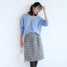 ツイードタイトスカート (紺)