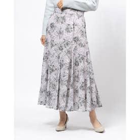 エアリージャガードプリントスカート (モカピンク)