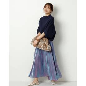 エアリーカラープリーツスカート (紫)
