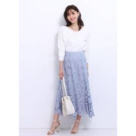 エアリー刺繍スカート (ライトブルー)