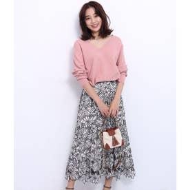 エアリー刺繍スカート (ベージュ)