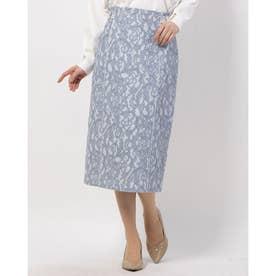 レースボンディングタイトスカート (ライトブルー)