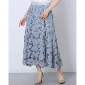 エアリー刺繍スカート (ミント)
