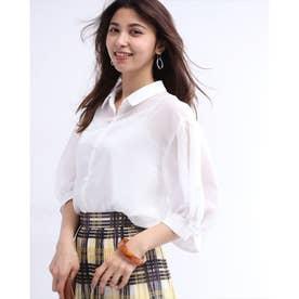 シアーゆるシャツ (白)