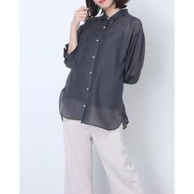 シアーゆるシャツ (チャコールグレ)
