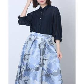 シアーゆるシャツ (紺)