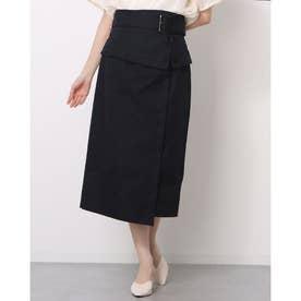 2WAYトレンチタイトスカート (紺)