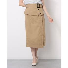 2WAYトレンチタイトスカート (キャメル)