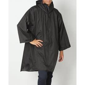 アウトドア レインウェア SLEEVE RAIN PONCHO K77-182 (ブラック)