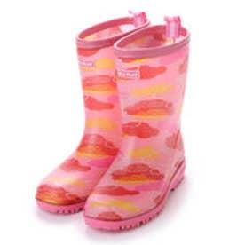 総柄 和柄調ピンク レインシューズ スリップ防止 19cm-24cm キッズ 女の子 長靴 レインブーツ 子供 kp_17007 (PINK(迷彩))