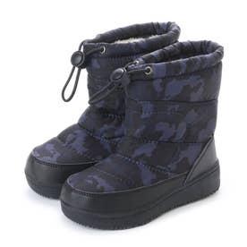 防寒ブーツ ジュニア キッズ ガールズボーイズ 男の子用 ゴム紐バンド付き kp_17983 (GRAY)