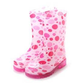 歩くたびに光る LED内蔵ソール キッズレインブーツ Lighting Rain Boots 長靴・kp_18004 (PINK)