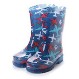 歩くたびに光る LED内蔵ソール キッズレインブーツ Lighting Rain Boots 長靴・kp_18004 (BLUE)