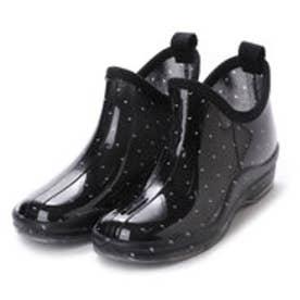 ブラックドットガーデニングブーツ ショートレインシューズ・kp_16029 (BLACK/dot)