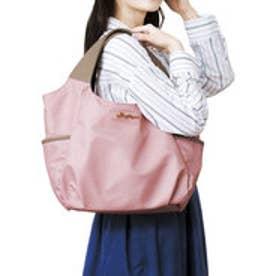 使いやすさ5つ星! 大荷物さんのこだわりが詰まった軽心地バルーントートバッグ (ピンク)