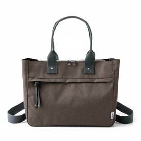 荷物を放り込むだけでスッキリ仕分け T字形の仕切り付きトートバッグ〈撥水(はっすい)・リュック〉 (ブラウン)