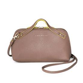 お財布とミニバッグがドッキング! かばっと開いて一目瞭然(りょうぜん)なウォレットショルダーバッグ (ブラウン)