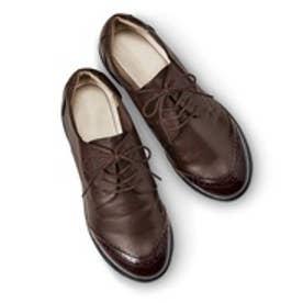 脱ぎ履き素早く驚くほど軽いスニーカー心地のきちんと靴 (ブラウン)
