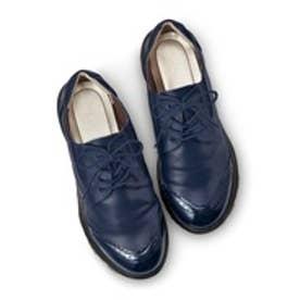 脱ぎ履き素早く驚くほど軽いスニーカー心地のきちんと靴 (ネイビー)