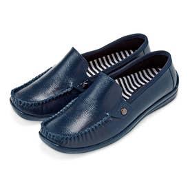 雨の日も気持ち晴れやか 革靴みたいな防水スリッポン (ネイビー)
